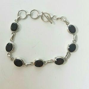 Jewelry - NWOT 925 Sterling Silver & Garnet bracelet